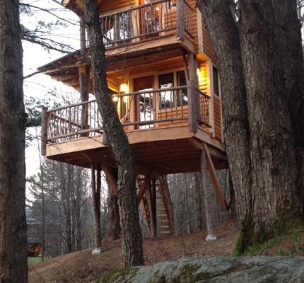 Spotlight Moose Meadow Lodge Treehouse