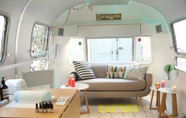 Mobile French Nail Salon In Airstream Trailer